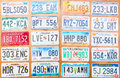 Number plates collection of the old Stock Photo