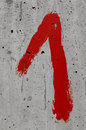 Number red color hand painted Royalty Free Stock Photography