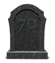 Number seventy on gravestone Stock Image