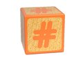 Number Sign - Childrens Alphabet Block. Royalty Free Stock Photo