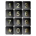 Number sign icons collection of isolated on white Royalty Free Stock Photography
