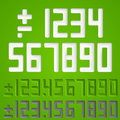Number sings. Vector Royalty Free Stock Photo