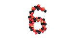 Number six with fruits Royalty Free Stock Photo