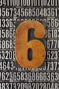 Number six  - numerical abstract Stock Images