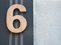 Number six a on the wall Stock Images