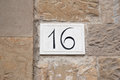 Number Sixteen Royalty Free Stock Photo