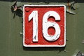 Number sixteen ready to use background Royalty Free Stock Photo