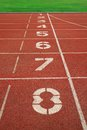 Number on the start of a running track Royalty Free Stock Photo
