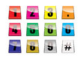 Number tabs Royalty Free Stock Photography
