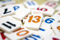 Number thirteen Royalty Free Stock Photo