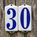 Number thirty  - 30