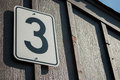 Number three on gate Royalty Free Stock Photo