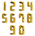 Number from to in gold over white background Royalty Free Stock Photos