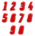 Number from to over white background Royalty Free Stock Image