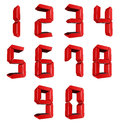 Number from to in red over white background Royalty Free Stock Photo