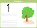 Number Tracing Worksheet: Writing 0-9