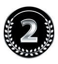 Number two medal Royalty Free Stock Photo