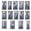 Number typescript d rendering of the in print letter cases part of a matching alphabet Royalty Free Stock Photos