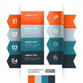 Numbered banner design template with modern business style for info graphic website advertisement work flow layout diagram number Stock Photo