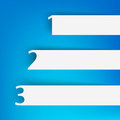 Numbered banners Royalty Free Stock Photo