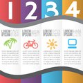 Numbered banners four steps for infographics options four vertical Stock Photos