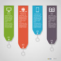 Numbered banners modern can be used for infographics diagram vertical cutout lines number options step up options web template Royalty Free Stock Photos