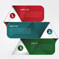 Numbered infographics template business design Stock Photography
