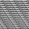 Numbers black and white background,