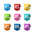 Numbers bookmarks Royalty Free Stock Photo
