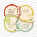Numbers brochure illustration of step by step count or list vector illustration Royalty Free Stock Images