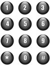 Numbers buttons Stock Photos