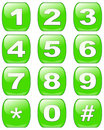 Numbers buttons Stock Photography
