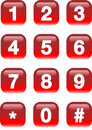 Numbers buttons Royalty Free Stock Images