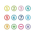 Numbers in circles Royalty Free Stock Image