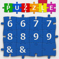 Numbers with clipping path letters and puzzle to place concepts in a crossword Royalty Free Stock Photography