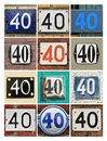 Numbers collage of house forty Stock Images
