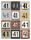 Numbers collage of house forty one Stock Photography