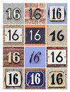 Numbers collage of house sixteen Royalty Free Stock Images