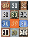 Numbers collage of house thirty Royalty Free Stock Photography