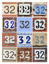 Numbers collage of house thirty two Royalty Free Stock Photos