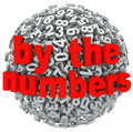 By the numbers data number sphere research intelligence analysis a d of to illustrate learning math or accounting with a mess of Royalty Free Stock Photos