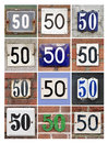 Numbers fifty collage of house Royalty Free Stock Image