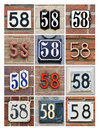 Numbers Fifty-eight Royalty Free Stock Photos