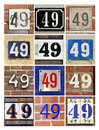 Numbers forty nine collage of house Stock Photos
