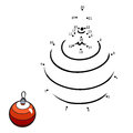 Numbers game for children: Christmas tree ball