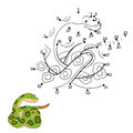 Numbers game (snake) Royalty Free Stock Photo