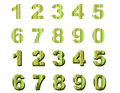 Numbers green stripes Stock Photography