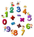 Numbers and happy kids