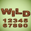 Numbers imitating leopard fur vector Stock Photography