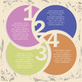 Numbers infographic infographics over vintage background vector illustration Stock Photos